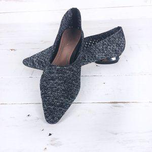 Zara Women Pointed Toe Slip On Mesh Flats 6.5